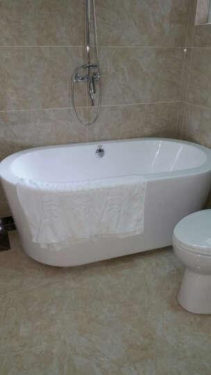 沃特玛(Waltmal) 亚克力浴缸独立式欧式浴缸浴盆铜下水1.5米1.7米1.8米 含豪华五件套龙头 约1.8米 晒单图