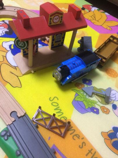 加拿大ACOOL 木制轨道配件 场景搭建配件吊车拱桥车库 单节宜家兼容 儿童托马斯轨道 AC7412 107直轨6个 晒单图