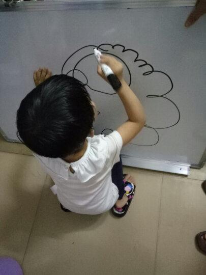 美斯特(msisite)单面双面磁性白板挂式绿板儿童涂鸦小黑板墙 挂式家用教学办公会议留言板写字板 45*60单面白板 晒单图