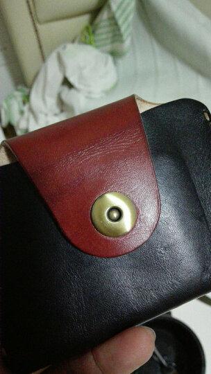 布朗克 挂腰驾驶证包卡包零钱包 超薄迷你小腰包真皮S9008D-B1-J1 KI 301黑 晒单图