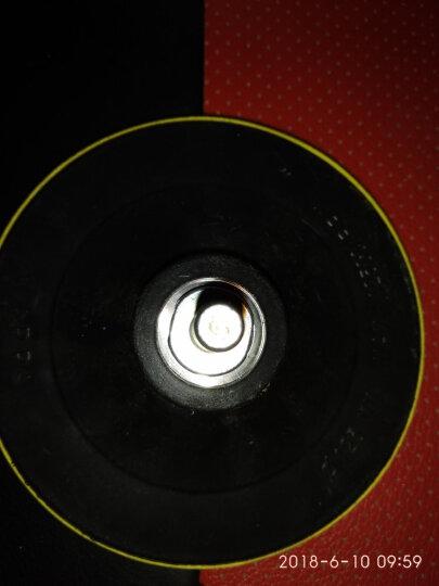 铁胆金钢 汽车美容打蜡抛光轮 自粘羊毛轮 海绵轮 抛光机海绵球抛光盘 打蜡海绵 2、4寸14孔5件套电钻抛光机用 晒单图