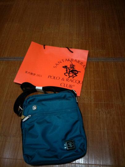 圣大保罗polo单肩斜挎包 男包防水帆布包休闲包男士斜背包小 黑色大号134060078703022 晒单图