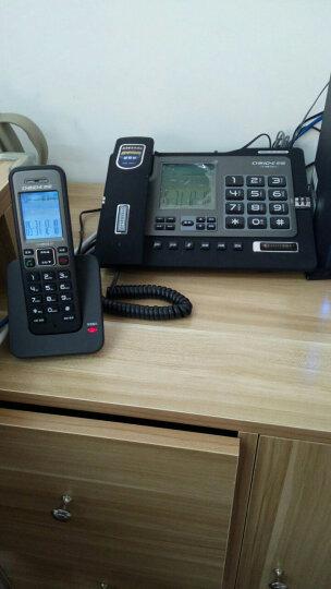 中诺(CHINO-E)H802 大屏大声大按键数字子母机一拖一老人家用办公坐固定无线电话机座机无绳电话机 雅士黑 晒单图
