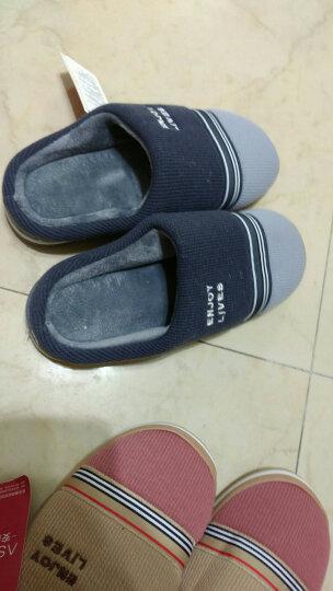 安尚芬 棉拖鞋男女士情侣拖鞋保暖棉拖保暖月子拖 灰色 45-46适合44-45 晒单图