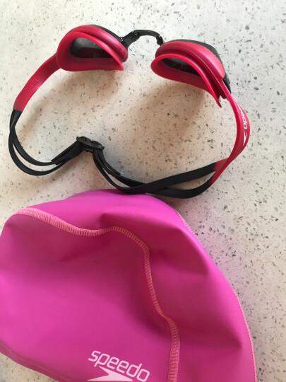 速比涛(Speedo)泳镜 男女士防雾高清 大框防水游泳眼镜装备 时尚舒适平光 313007-29 中国红 晒单图