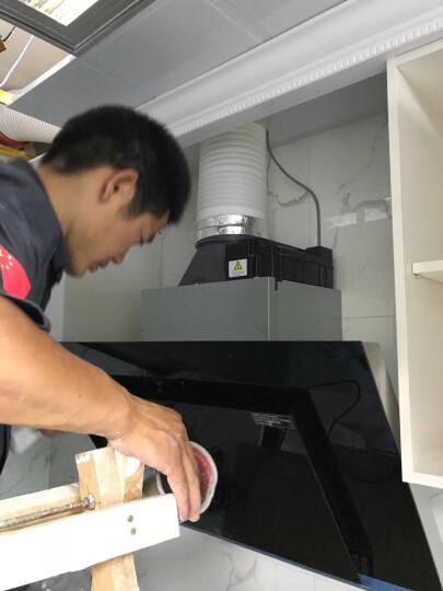 西门子(SIEMENS) 飓风黑洞侧吸自清洁抽油烟机燃气灶具套装 962+71236 天然气 晒单图