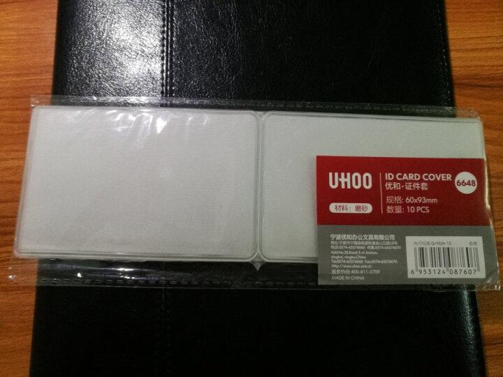 优和(UHOO)10个装 银行卡套交通公交卡套身份证卡套 双面磨砂 竖开口 6648 晒单图