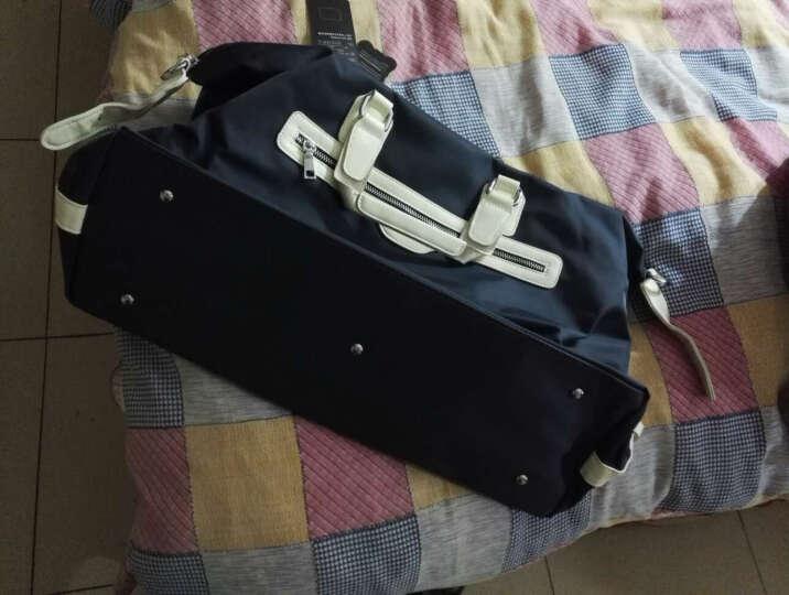 MAIWEINI 休闲男包短途超大容量旅行手提行李包 韩版商务出差旅行包单肩旅游包M4001 啡色 晒单图