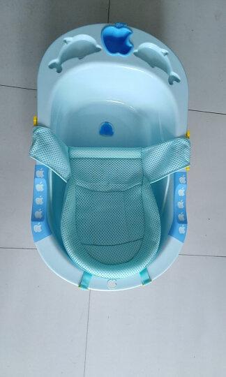 良品物语 婴儿洗澡盆新生儿浴盆宝宝沐浴盆儿童浴桶 绿色浴盆+浴板+T型浴网(送26件) 晒单图