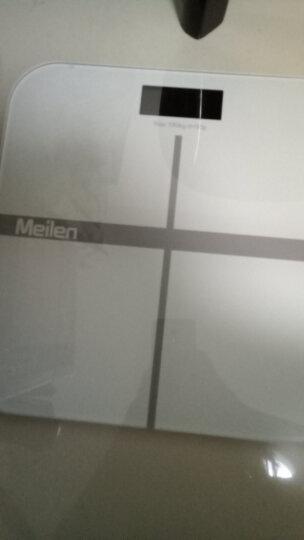 【充电款】Meilen称重电子秤人体秤体重秤家用精准电子称健康秤 标准版白色 晒单图