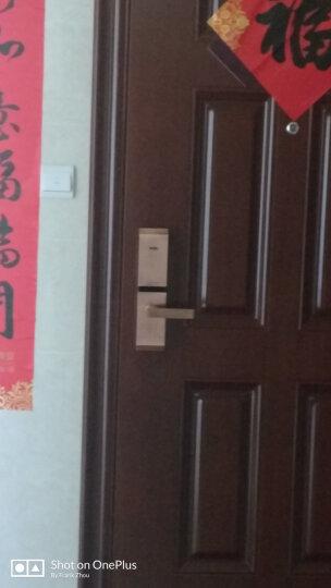 VOC指纹锁家用防盗门智能锁大门通用型门锁木门电子锁密码锁T77F 拉丝银【三年质保+免费安装+白条免息】 晒单图