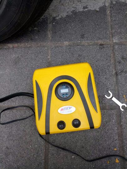 车行天下 车载充气泵12V汽车车用小轿车轮胎便携式迷你电动打气泵筒 新升级数显款+工具+工具箱 靓丽黄 晒单图