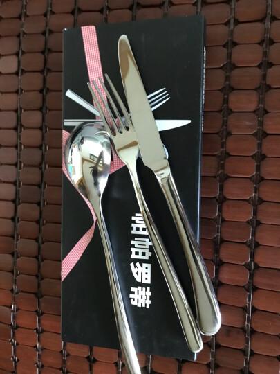帕帕罗蒂(PAPAROTTY) 不锈钢刀叉套装 牛排刀叉勺套装 西餐餐具三件套汤勺叉子 刀叉勺三件套 晒单图