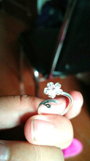 日系树枝樱花戒指 女 可爱气质 简约百搭小花朵开口戒指 手饰品 粉色钻戒指 开口可调节 晒单图