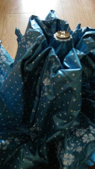 天堂伞 UPF50+双面柔粉亮胶丝印拼裙边三折晴雨伞太阳伞 蓝灰 30049ELCJ 晒单图