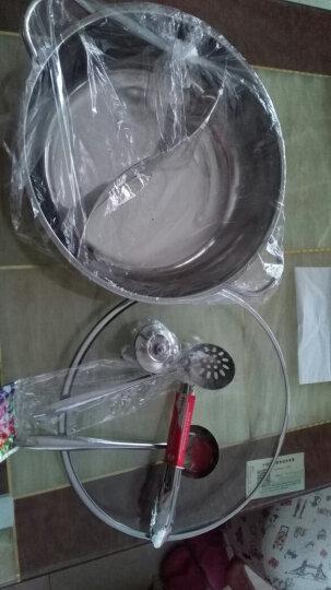 野虎(YE-HU) 鸳鸯锅火锅锅具不锈钢火锅盆电磁炉专用火锅锅 鸳鸯火锅36cm 晒单图