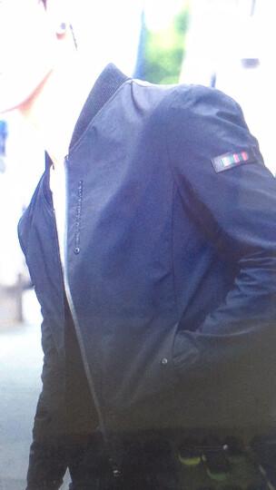 麦诺格品 夹克男外套韩版休闲修身棒球服短款男生潮牌百搭青少年男装上衣工装薄外套男褂子 31款黑 180/2XL 晒单图