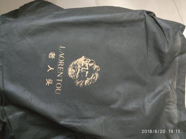老人头(LAORENTOU)双肩包男女多功能学生书包笔记本商务电脑包大容量旅行背包 847J010L1A1 黑色 晒单图