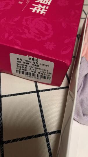 恒源祥女士内裤 提臀收腹三角裤透气纯色性感纯棉内裤女4条礼盒装 浅绿 肤色 米白 灰蓝 XXL(175/100) 晒单图