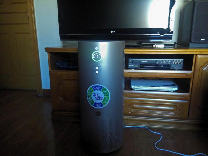Hoover 胡佛空气净化器家用新风甲醛净化器负离子空气净化器除雾霾除甲醛新风机净化机 金色 晒单图