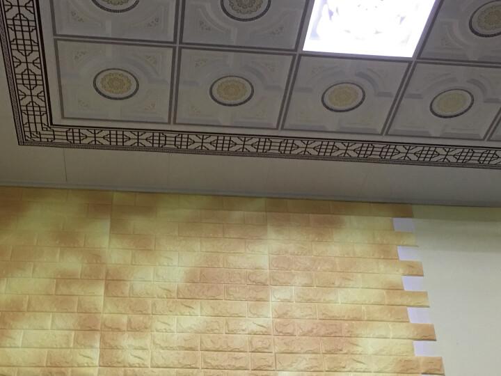 梦雅莉(mengyali)3D立体墙贴纸砖纹自粘创意电视背景墙客厅画卧室装饰防水墙面 梦幻灰【升级款】 大号(70*77cm) 晒单图