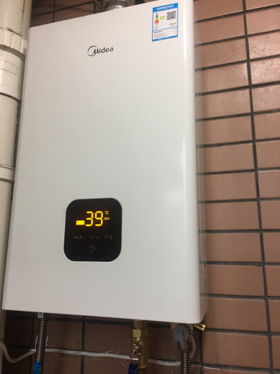 Midea/美的 JSQ27-H1(T) 天然气燃气热水器家用洗澡智能恒温一键婴儿洗14升L全家用 晒单图