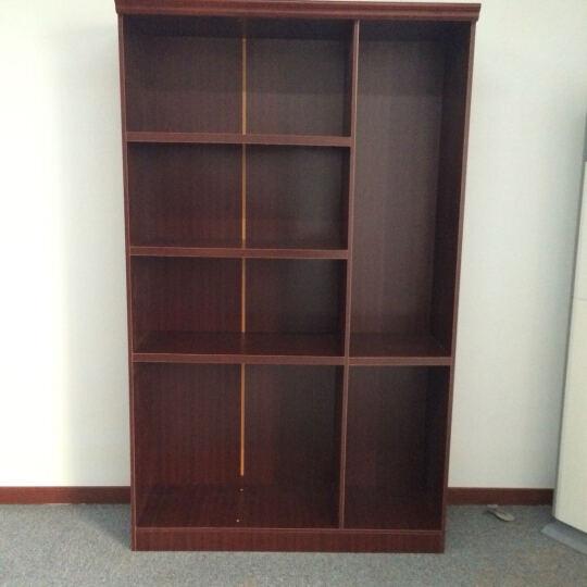 丞懿(chengyi)办公家具大班台油漆老板桌总裁办公台经理桌办公桌 3.2米+牛皮椅+8门书柜 晒单图