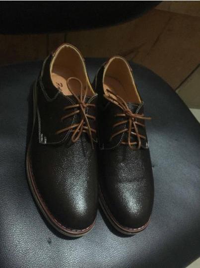 男鞋秋冬季男皮鞋加绒棉鞋休闲鞋拉链夜店潮鞋 黑色-潮鞋亮面 42 晒单图
