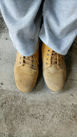 谋福 翻毛牛皮劳保鞋工作鞋户外鞋   橡胶大底 42 晒单图