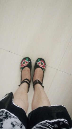 娟的绢 老北京布鞋女鞋 民族风绣花舞蹈鞋 内增高单鞋 A412-151 高帮红色 37 晒单图
