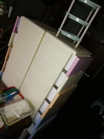 纳雅乐卡通印花加厚抽屉式收纳柜塑料收纳箱整理柜储物柜宝宝衣柜婴儿玩具柜物收纳盒家居收纳柜子 39精致美式-象牙黄 五层39*32*85cm 晒单图