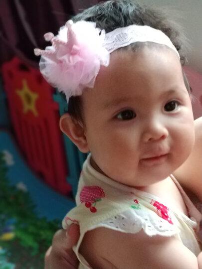 婴儿发带头饰柔软花朵弹力蕾丝女发带儿童婴发饰 粉色网粉皇冠大号3-36个月 晒单图