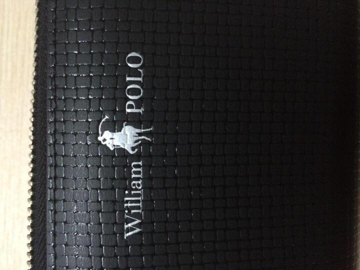 英皇保罗POLO男士长款钱包 钱夹头层牛皮时尚商务多功能包手机包票夹拉链手包 全国联保 黑色 晒单图