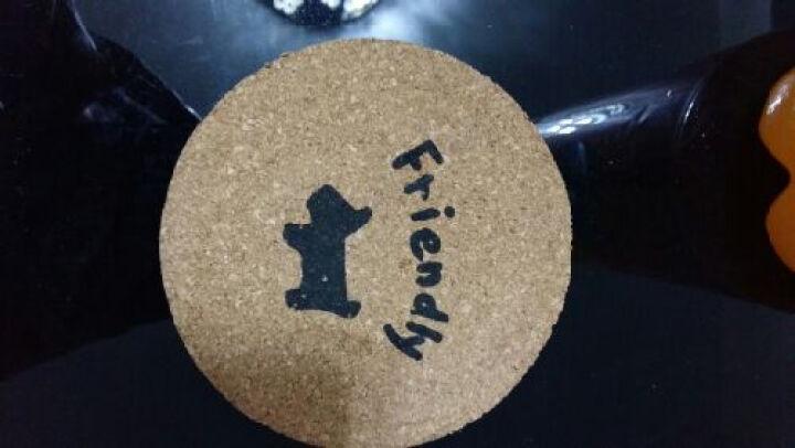 享乐居 软木餐垫隔热垫桌面餐垫盘子隔热垫茶几杯垫 可印制公司LOGO 大号 直径19cm 4片装 可定制 晒单图