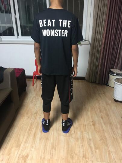 运动裤男士篮球短裤透气压缩健身紧身裤过膝五分速干裤高弹打底七分裤 PG灰+ET白裤 XL(175-180高.135-150斤) 晒单图