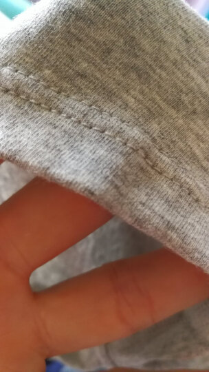 浪莎(langsha)内裤男 男士纯棉纯色U凸平角裤 舒适透气男式四角短裤 4条礼盒装(黑色+麻灰色+浅麻灰色+藏青色) XL 晒单图