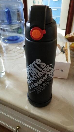 苏兹 车载不锈钢保温杯大容量水瓶旅行便携健身自行车户外运动水壶 黑色 晒单图