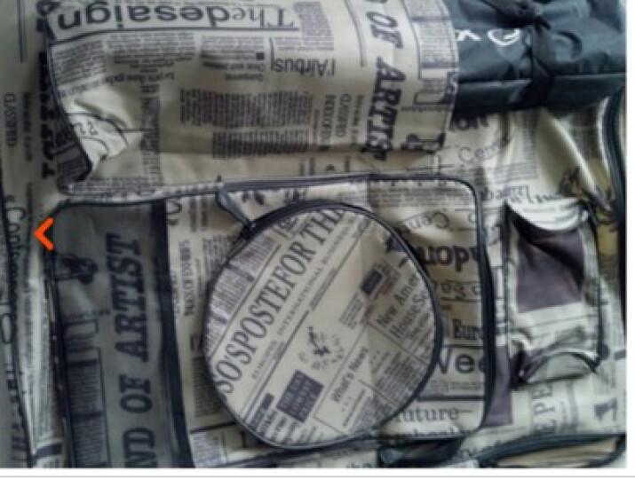 礼品文具 潮流报纸画板袋 4K手提可背多功能画板袋 画包画袋 4K画袋魅力深黄 晒单图