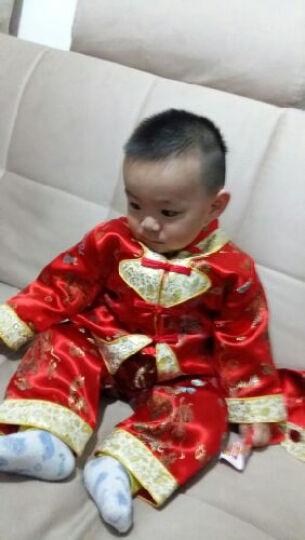 虎头娃娃春秋款儿童唐装宝宝唐装 婴儿套装女童唐装百天周岁礼服 红色 80码(建议1岁-1岁半) 晒单图