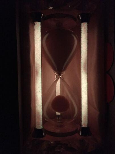 夜光钻石【免费刻字】水晶沙漏 情人节生日礼物女生 创意礼品送女友老婆 粉色夜光款刻字 晒单图