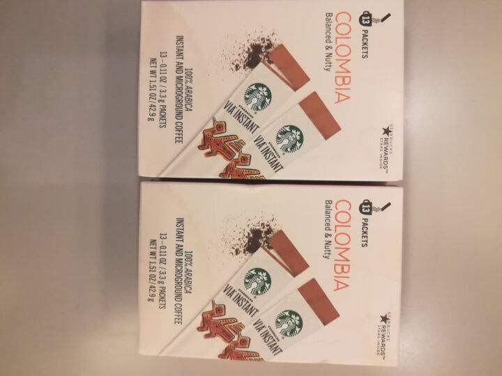 STARBUCKS 美国原装进口 STARBUCKS星巴克VIA速溶咖啡哥伦比亚无糖黑咖啡26条 限时特价星巴克VIA速溶咖啡26条*1 晒单图