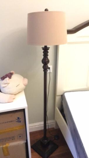 凡丁堡美式台灯卧室床头led母子地灯装饰套装 214中号+落地灯 可调光(仅台灯可调)【5W可调暖光LED】 晒单图