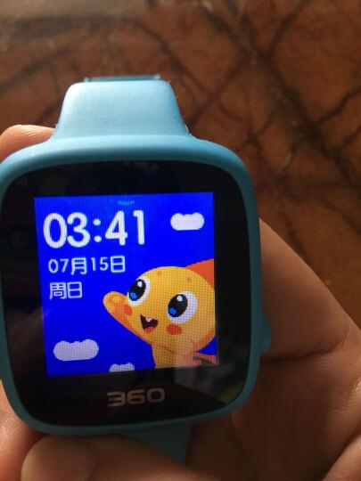 360儿童电话手表 彩色触屏版 防丢防水GPS定位 儿童手机 360儿童手表SE 2代 W608 智能彩屏电话手表 天空蓝 晒单图