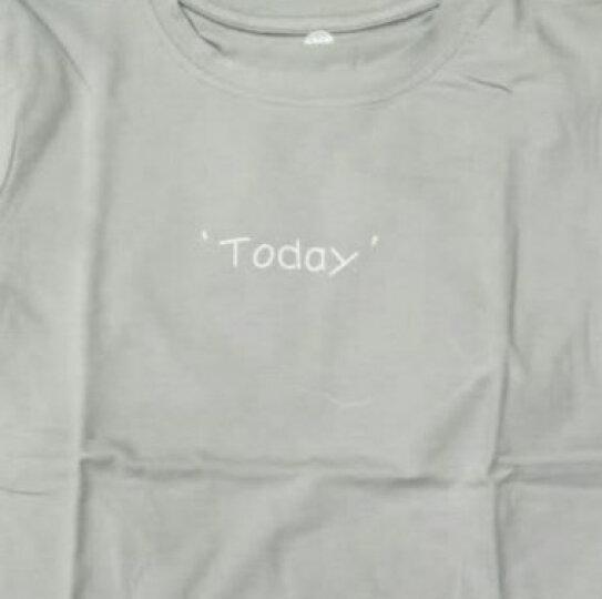 俞兆林(YUZHAOLIN)童装儿童短袖t恤男童夏装女童短袖上衣中小童打底衫 女孩与气球-白色 130CM 晒单图