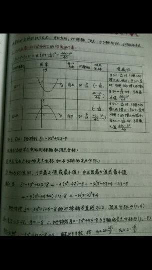 衡水重点中学状元手写笔记:数学(初中版·各年级通用) 晒单图