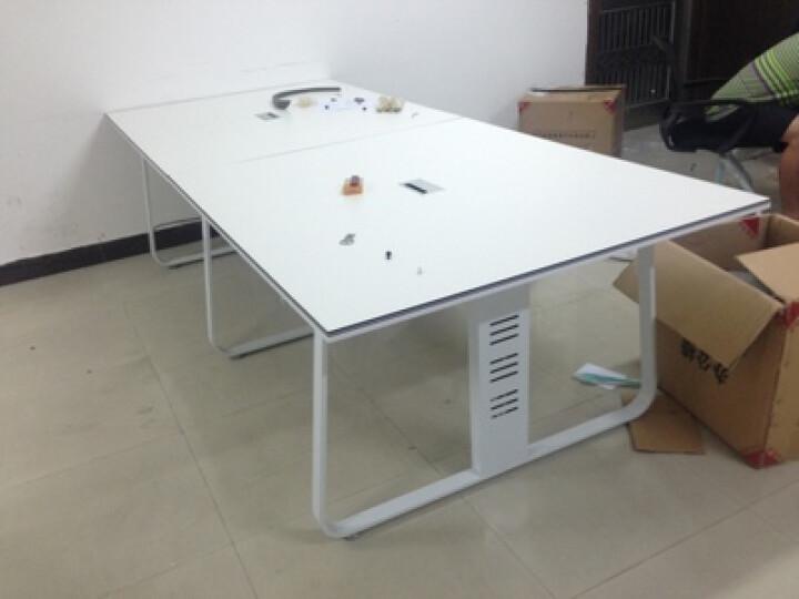 创圣 上海北京简约时尚现代办公桌接待洽谈会议桌会客培训桌椅组合长条桌定制  时尚小型咖啡桌1 2.4米(定制颜色)+椅子柜子 晒单图