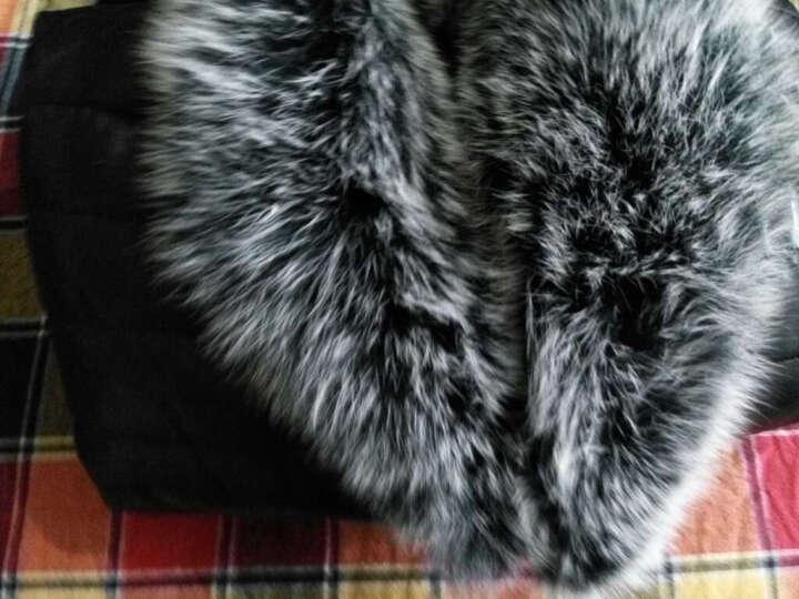 宏豆皇新款绵羊皮羽绒服男士真皮皮衣男款皮草海宁大狐狸毛领修身冬季外套 黑色-水貂毛领 175/XL 晒单图