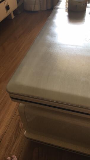 梓晨 无味餐桌布软质PVC软玻璃防水防烫台布桌垫茶几垫透明磨砂 透明1.3mm 常规60*120cm无味环保 晒单图