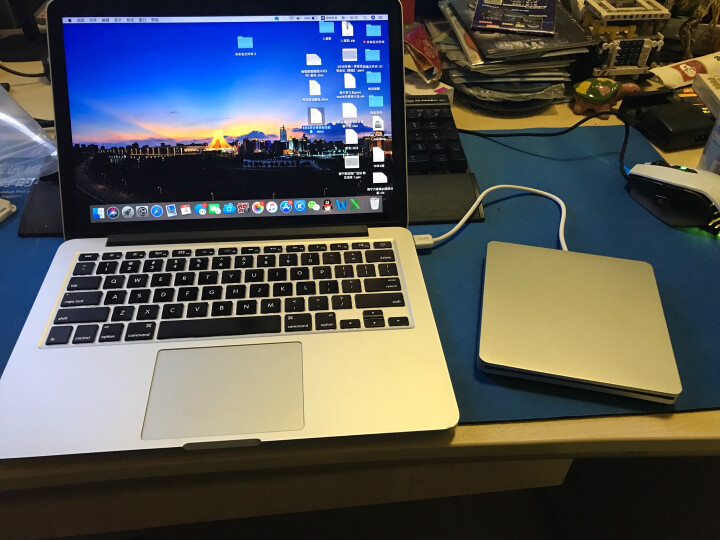精米USB3.0吸入式蓝光光驱 外接移动DVD刻录机 台式笔记本通用 适用于苹果电脑 晒单图