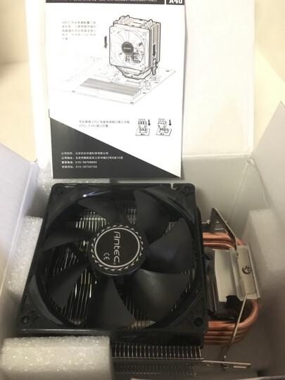 安钛克(Antec) 战虎A40 红光版 CPU散热器 (支持锐龙AMD AM4平台/多平台散热器/风冷/四热管/LED红光风扇) 晒单图
